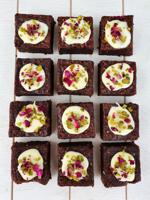 The Rose and Pistachio Brownie